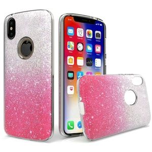 Apple iPhone XR Case Two Tone Glitter  - Hot Pink